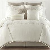 Liz Claiborne® Bianca Border 4-pc. Full Size Comforter Set