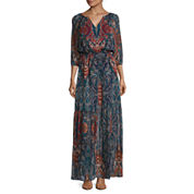 a.n.a® Long-Sleeve Tiered Maxi Dress