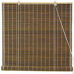 Oriental Furniture Burnt Bamboo Roller Shade