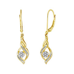 diamond blossom 1/5 CT. T.W. Diamond Cluster Earrings
