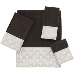 Avanti Floral Grid Bath Towels
