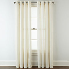 JCPenney Home™ Cotton Classics Solid Grommet-Top Curtain Panel