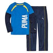 Puma® 2-pc. Printed Pant Set - Preschool Boys 4-7
