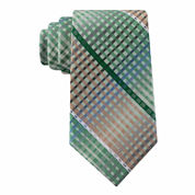 Van Heusen® Multi-Line Plaid Silk Tie