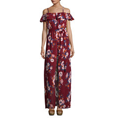 Secret Charm Sleeveless Floral Maxi Dress-Juniors