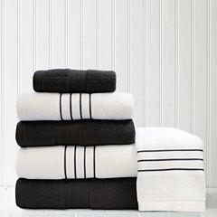 Pacific Coast Textiles Contrast 6-pc. Quick Dry Bath Towel Set