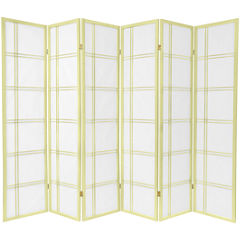 Oriental Furniture 6' Double Cross Shoji Special Edition 6 Panel Room Divider