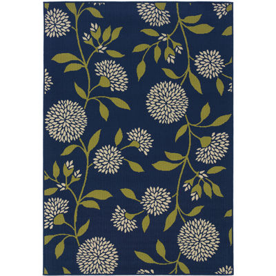 Covington Home Pom Pom Flowers Rectangular Indoor/Outdoor Rug