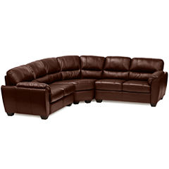 Leather Possibilities 3-pc. Loveseat Sectional