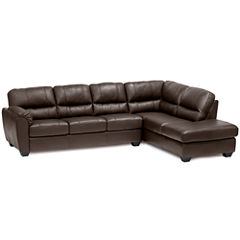 Leather Possibilities 2-pc. Right-Arm Corner Chaise/Sofa Sectional