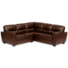 Leather Possibilities Pad-Arm 2-pc. Right-Arm Corner Sectional