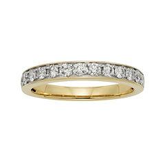 1/2 CT. T.W. Certified Diamond Single-Row Yellow Gold Wedding Band