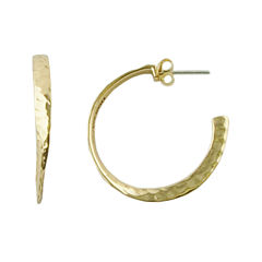 Art Smith by BARSE Hammered Bronze Half-Hoop Earrings
