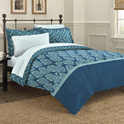 Discoveries Elegant Peacock Reversible Complete Bedding Set with Sheets