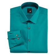 JF J. Ferrar® Slim-Fit Solid Dress Shirt