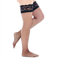 Berkshire Shimmers® Lace-Top Thigh-High Hosiery - Queen