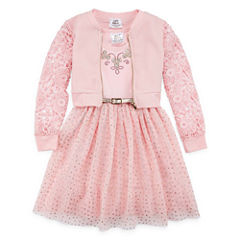 Knit Works 2-pc. Jacket Dress Preschool Girls
