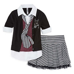 Beautees 2-pc. Skirt Set Big Kid Girls