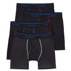 Hanes 4-pc. Boxer Briefs Big Kid Boys