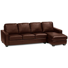 Leather Possibilities 2-pc. Left-Arm Sofa/Chaise Sectional