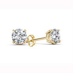 1/2 CT. T.W. Round White Diamond 14K Gold Stud Earrings