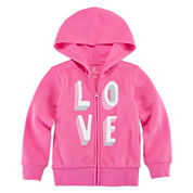 Okie Dokie® Long-Sleeve Graphic Hoodie - Toddler Girls 2t-5t