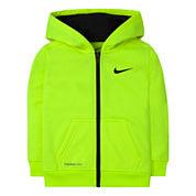 Nike® Dri-FIT Long-Sleeve Full-Zip Hoodie - Toddler Boys 2t-4t