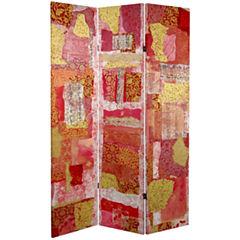 Oriental Furniture 6' Avant-Garde Collage Room Divider