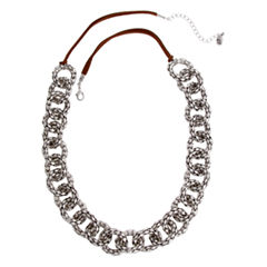 El By Erica Lyons July Tritone Womens 27 Inch Link Necklace