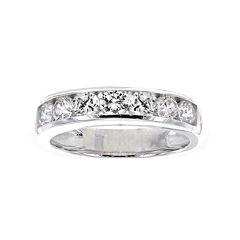 DiamonArt® Cubic Zirconia Sterling Silver Channel-Set Ring