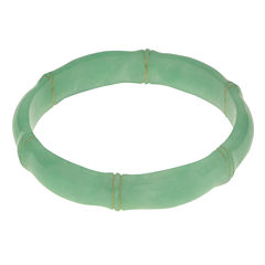 Genuine Jade Bamboo Bangle Bracelet