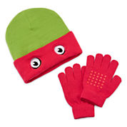 Teenage Mutant Ninja Turtles Raphael Reversible Beanie & Glove Set - Boys