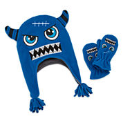 Mystic Apparel Blue Monster Hat & Mitten Set - Toddler