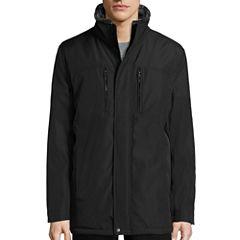 Claiborne® Arctic Cloth Car Coat with Faux Fur Lining