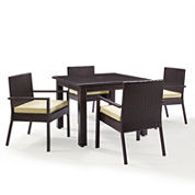 Palm Harbor Wicker 5-pc. Patio Dining Set