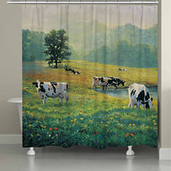 Laural Home Grazing In Fields Shower Curtain
