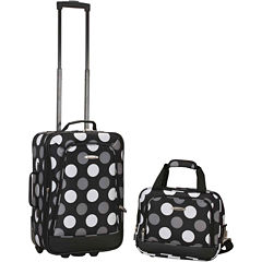 Rockland Rio 2-pc. Luggage Set-Polka Dot