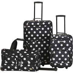 Rockland Spectra 3-pc. Luggage Set-Polka Dot