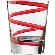 Libbey® Red Swirl Set of 4 Double Old-Fashioned Glasses