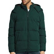 St. John's Bay® Long-Sleeve Hooded Puffer Jacket