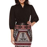 Bisou Bisou® Long-Sleeve Twist-Front Bodysuit