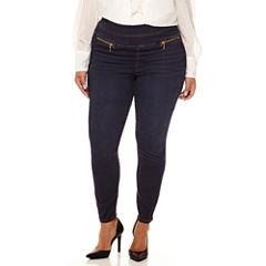 Bisou Bisou® Double-Stack Skinny Denim Pants - Plus