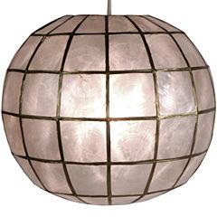 Oriental Furniture Princess Capiz Hanging Lamp