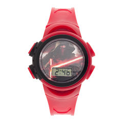 Star Wars® Kids Red Plastic Strap Digital Watch