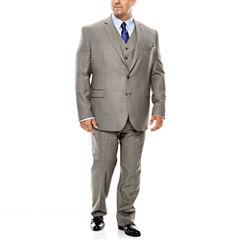 Stafford® Travel Gray Sharkskin Suit Separates - Big & Tall