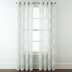 JCPenney Home™ Presidio Grommet-Top Sheer Panel