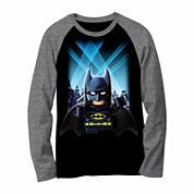 DC Comics® Batman Lego Long-Sleeve Raglan Tee - Preschool Boys 4-7