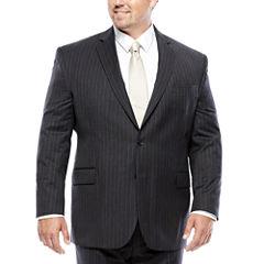 Stafford® Charcoal Chalk Stripe Suit Jacket - Big & Tall