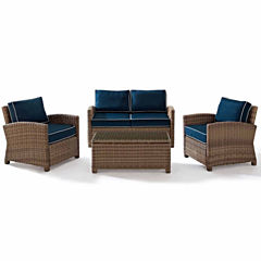 Bradenton Wicker 4-pc. Patio Lounge Set