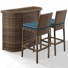 Bradenton Wicker 3-pc. Patio Bar Set